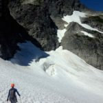Approaching Mount Tricouni North Ridge