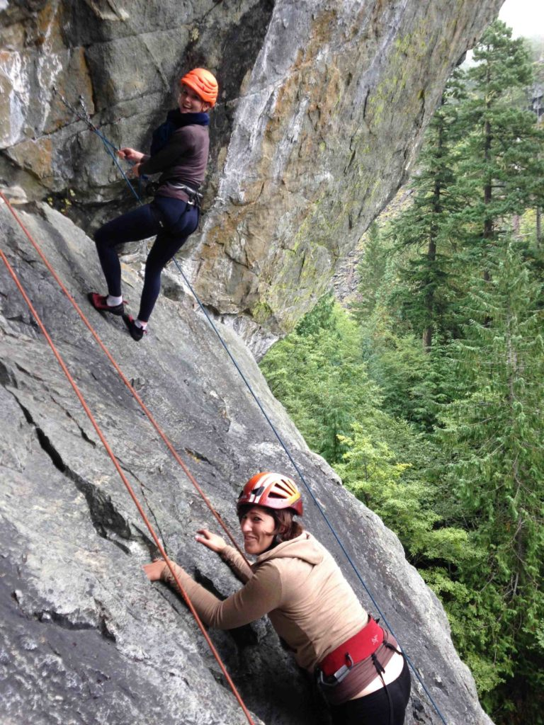 Happy and Scared Rockclimbing in Squamish