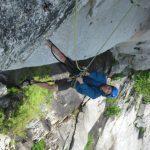 Eric Jugging the University Wall Squamish Rock Climb