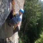 Learning to Aid climb in Squamish Rock Climbing