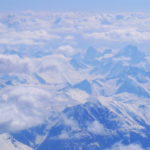 The Bugaboos From 23,000 feet
