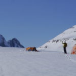 Base Camp Tusk Glacier Clemenceau Icefield Altus Mt Guides Crosby Johnston photos