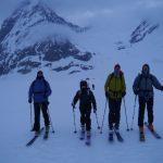 Leavibng Camp on Tusk Glacier