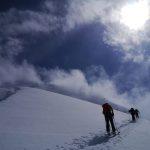 Climbing Mt. Clemenceau ski tour