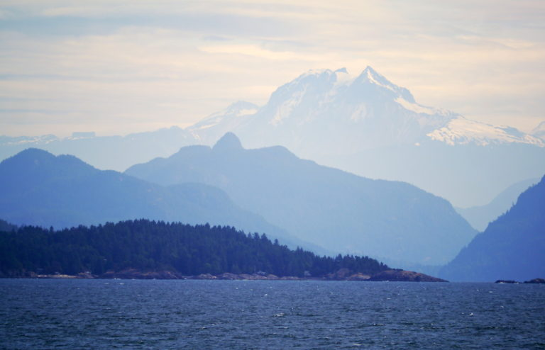 Mt Garibaldi. From entrance to Howe Sound!!