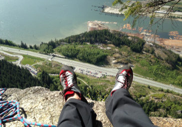 Feet up on Grand Wall
