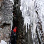 Ice climbing on the Duffey Lake Road