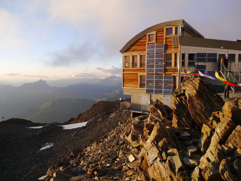 Sunset at de Tet Rousse Refuge Mont Blanc Chamonix