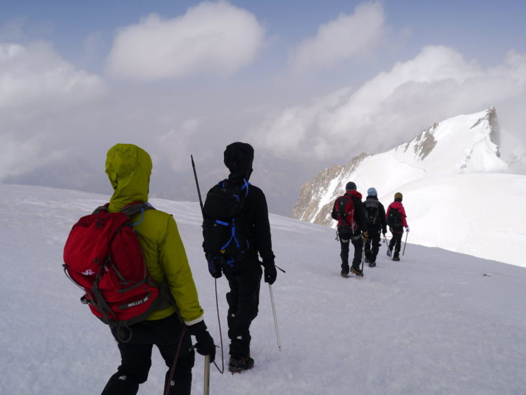 On the way of the summit of Mont Blanc Chaminix France
