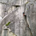 Rock climbing in Squamish Prow Wall