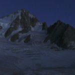 Moonlight on the Alps from Albert Premier Hut Chamonix, France.