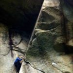 Fred Beckey climbing at Nightmare Rock!