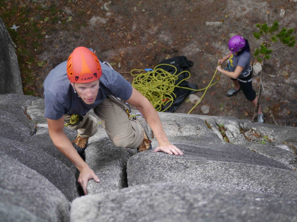 First Trad Lead Squamish Rock Climbing BNugers and Fries