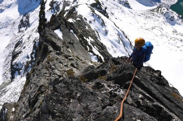 Climbing the south ridge of Mount Tricouni - Whistler Alpine Climbing