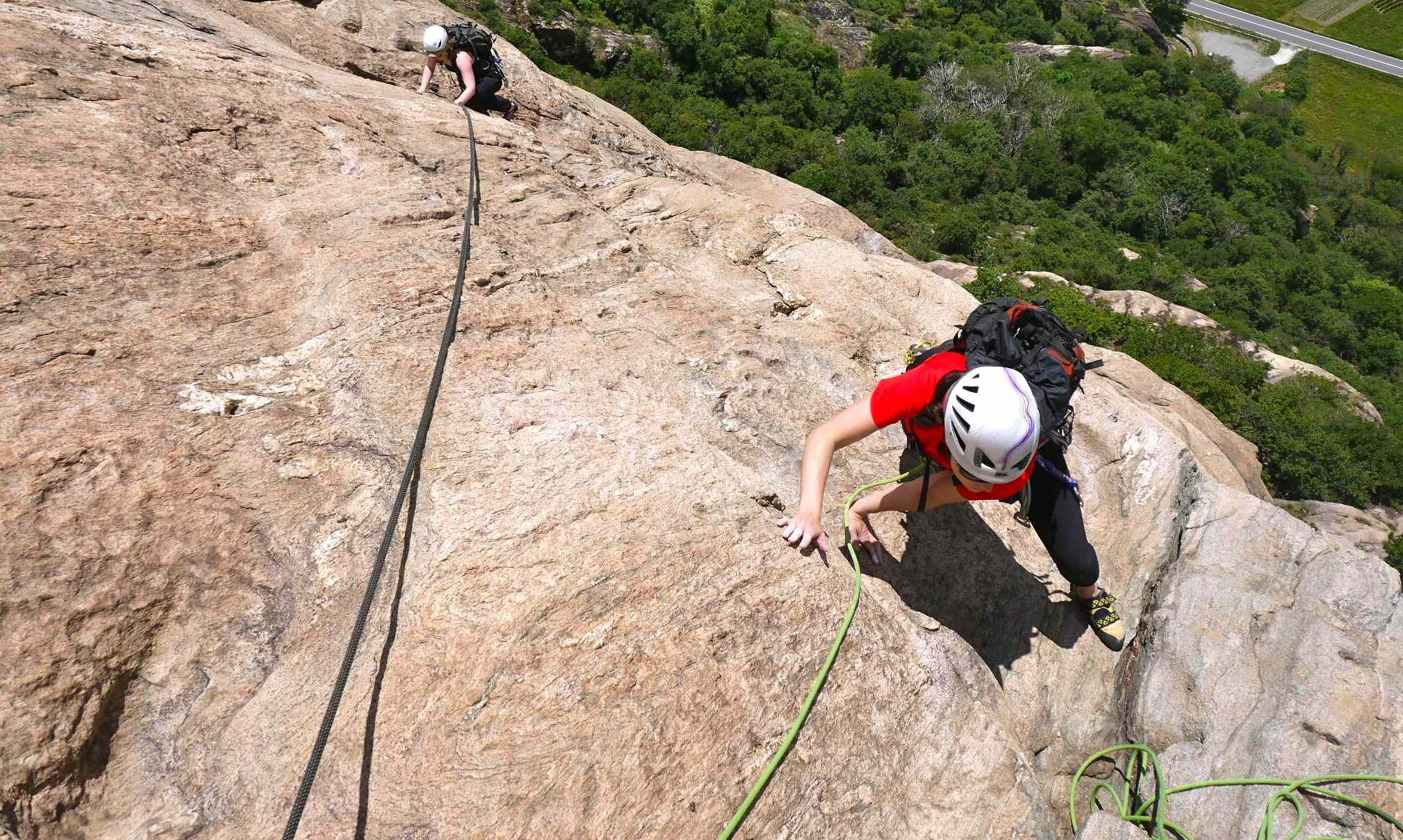 Private rock climbing instruction