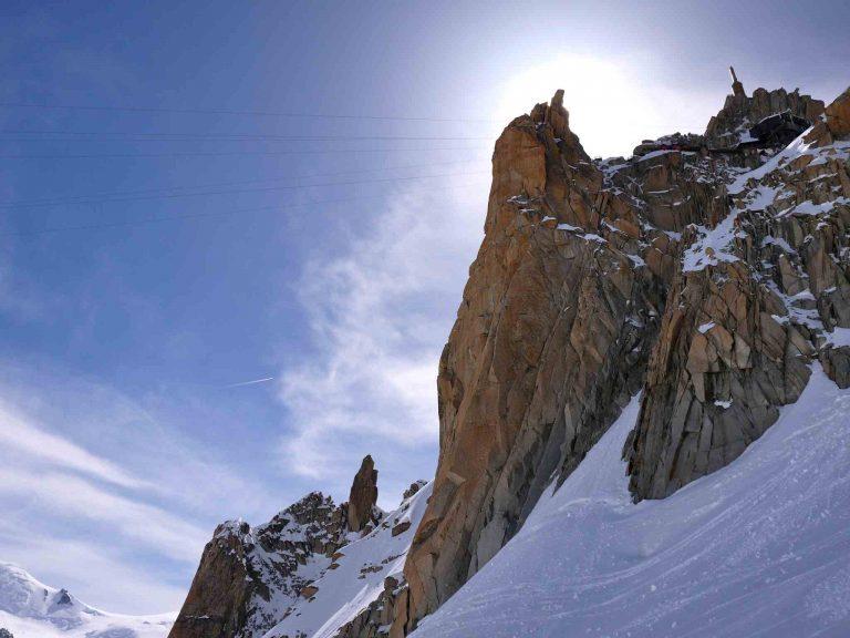 Another good alpine rock face - Aiguille du Midi south face
