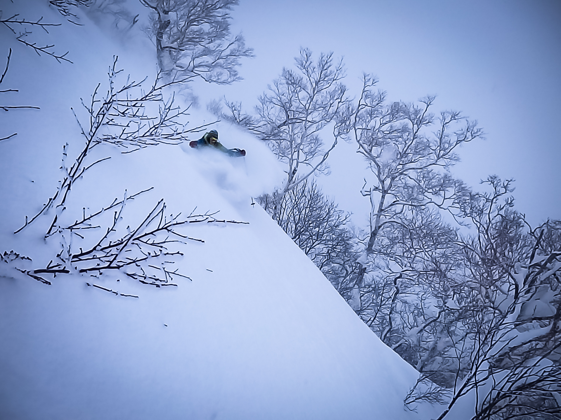 Backcountry skiing Japan
