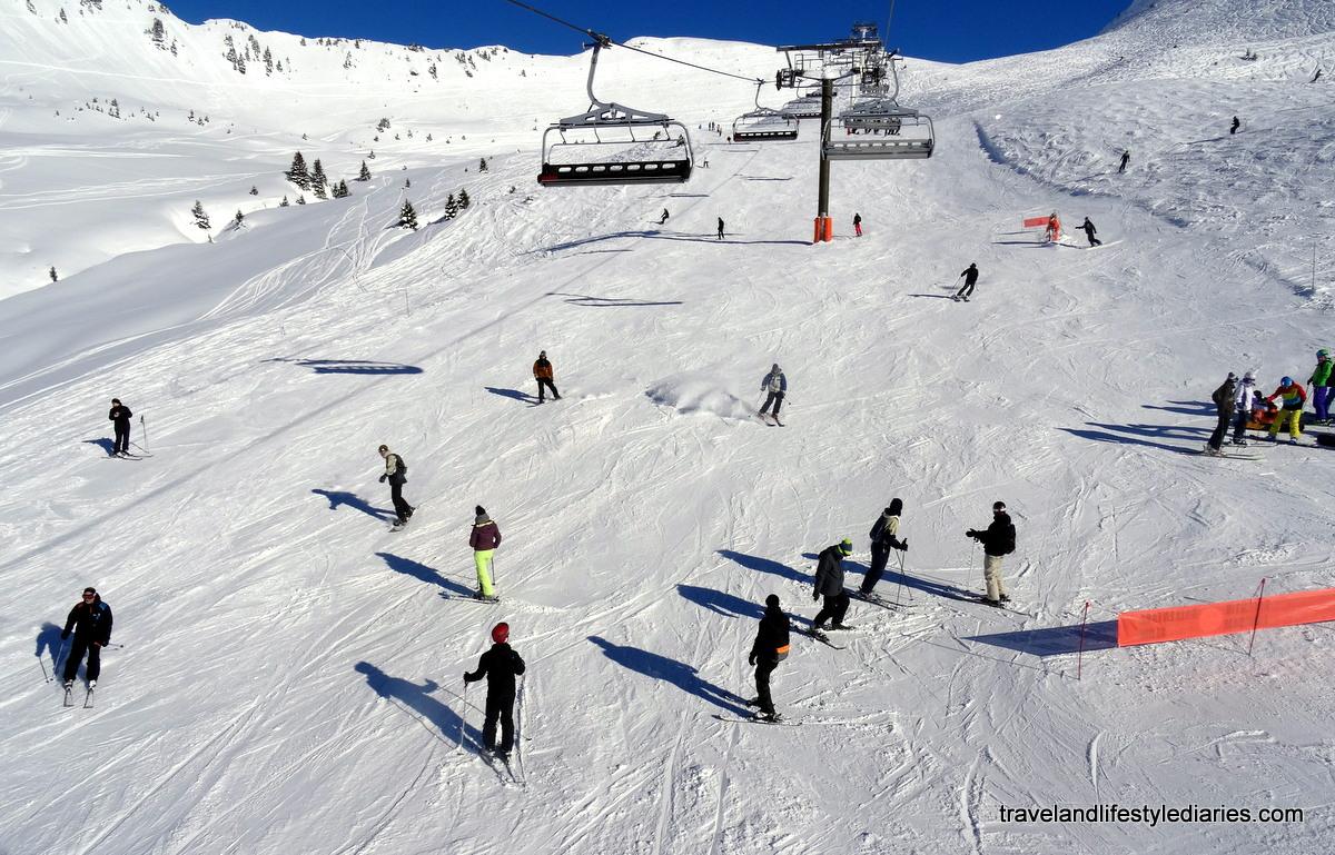 busy ski hill