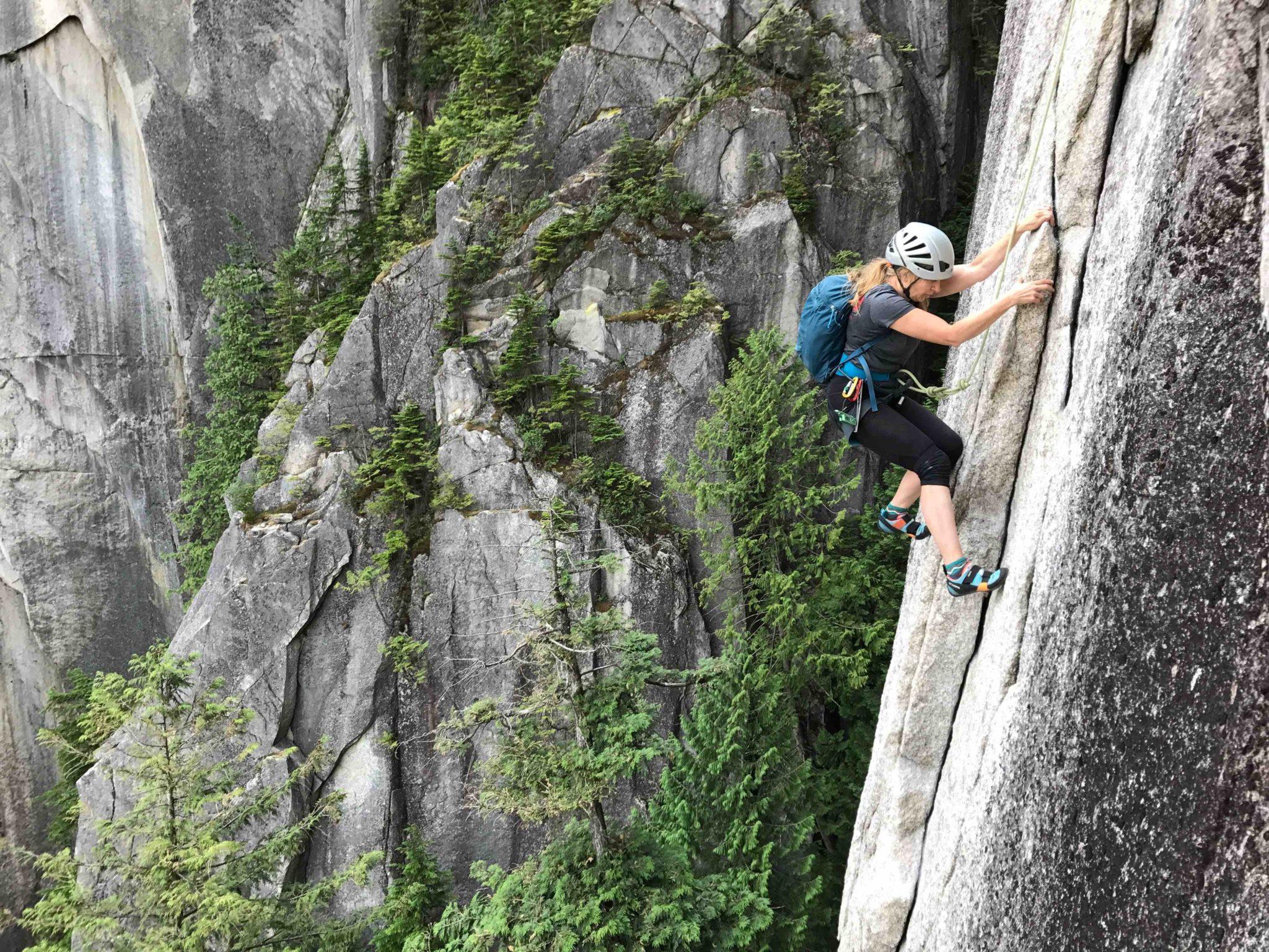 Squamish rock climbing experience