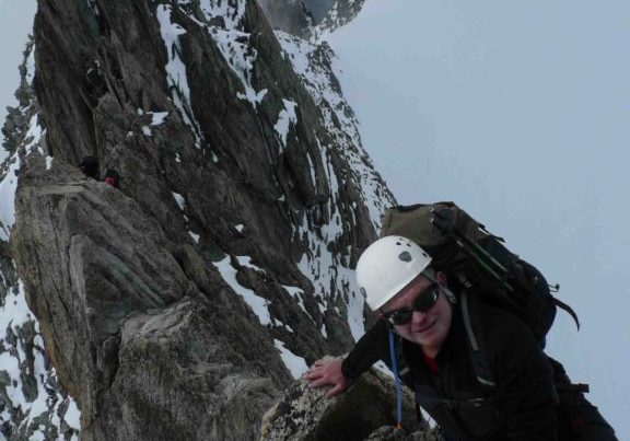 Ger on the Traverse d'Entreves